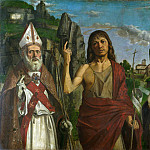 Saint Zeno, Saint John the Baptist and a Female Martyr, Bartolomeo Montagna