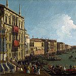 Canaletto – Venice – A Regatta on the Grand Canal, Part 1 National Gallery UK