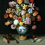 Ambrosius Bosschaert the Elder – A Still Life of Flowers in a Wan-Li Vase, Part 1 National Gallery UK