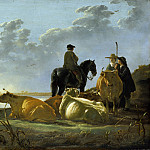 Peasants and Cattle by the River Merwede, Aelbert Cuyp