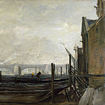 Charles-Francois Daubigny – St Pauls from the Surrey Side, Part 1 National Gallery UK