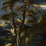 After Salvator Rosa – An Angel appears to Hagar and Ishmael in the Desert, Part 1 National Gallery UK