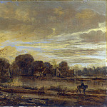 Part 1 National Gallery UK - Aert van der Neer - A River Landscape with a Village