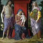 Part 1 National Gallery UK - Andrea Mantegna - The Virgin and Child with Saints