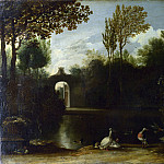 Anthonie van Borssum – A Garden Scene with Waterfowl, Part 1 National Gallery UK