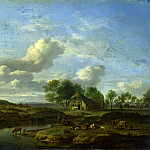 A Landscape with a Farm by a Stream, Van Bram Velde