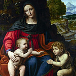 Part 1 National Gallery UK - Bernardino Luini - The Virgin and Child with Saint John