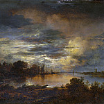 Part 1 National Gallery UK - Aert van der Neer - A Village by a River in Moonlight