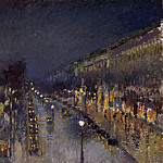 The Boulevard Montmartre at Night, Camille Pissarro