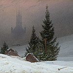 Caspar David Friedrich – Winter Landscape, Part 1 National Gallery UK