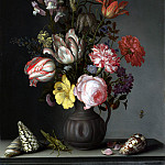 Part 1 National Gallery UK - Balthasar van der Ast - Flowers in a Vase with Shells and Insects