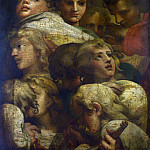 After Correggio – Group of Heads, Part 1 National Gallery UK
