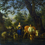 Adriaen van de Velde – Peasants with Cattle fording a Stream, Part 1 National Gallery UK