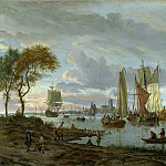 Abraham Storck – A River View, Part 1 National Gallery UK