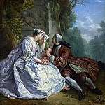 After Jean-Francois Detroy – The Game of Pied de Boeuf, Part 1 National Gallery UK
