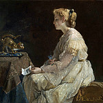 Alfred Stevens – The Present, Part 1 National Gallery UK