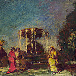 Part 1 National Gallery UK - Adolphe Monticelli - Fountain in a Park