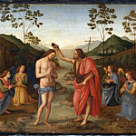 After Pietro Perugino – The Baptism of Christ, Part 1 National Gallery UK