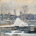 Alfred Sisley – The Watering Place at Marly-le-Roi, Part 1 National Gallery UK