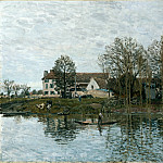 Alfred Sisley – The Seine at Port-Marly, Part 1 National Gallery UK