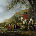 Part 1 National Gallery UK - Aelbert Cuyp - A Hilly Landscape with Figures