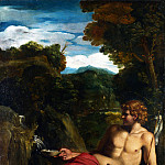 Circle of Annibale Carracci – Saint John the Baptist seated in the Wilderness, Part 1 National Gallery UK