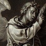 Circle of Pieter Coecke van Aalst – The Archangel Gabriel – Reverse of Left Hand Shutter, Part 1 National Gallery UK