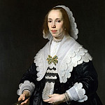 Part 1 National Gallery UK - Bartholomeus van der Helst - Portrait of a Lady in Black Satin with a Fan
