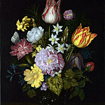 Ambrosius Bosschaert the Elder – Flowers in a Glass Vase, Part 1 National Gallery UK