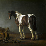 Abraham van Calraet – A Horse with a Saddle Beside it, Part 1 National Gallery UK