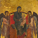 Cimabue – The Virgin and Child Enthroned with Two Angels, Part 1 National Gallery UK