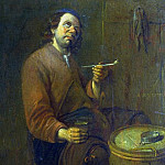 Arent Diepraem – A Peasant seated smoking, Part 1 National Gallery UK