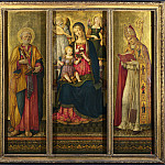 Benvenuto di Giovanni – Altarpiece – The Virgin and Child with Saints, Part 1 National Gallery UK