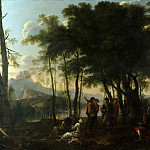 Part 1 National Gallery UK - After Salvator Rosa - The Philosophers Wood