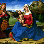 Andrea Previtali – The Virgin and Child adored by Two Angels, Part 1 National Gallery UK