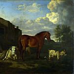 Adriaen van de Velde – Animals near a Building, Part 1 National Gallery UK