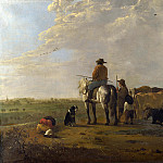 A Landscape with Horseman, Herders and Cattle, Aelbert Cuyp