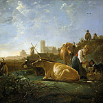 Aelbert Cuyp – The Large Dort, Part 1 National Gallery UK