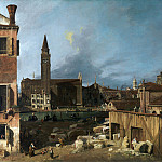 Part 1 National Gallery UK - Canaletto - The Stonemasons Yard