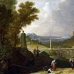 Bartholomeus Breenbergh – The Finding of the Infant Moses by Pharaohs Daughter, Part 1 National Gallery UK