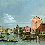 Part 1 National Gallery UK - Bernardo Bellotto - Venice - The Grand Canal facing Santa Croce