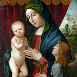 After Francesco Francia – The Virgin and Child with an Angel, Part 1 National Gallery UK