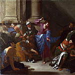 Part 1 National Gallery UK - Bernardo Cavallino - Christ driving the Traders from the Temple