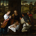 Bernardino da Asola – The Adoration of the Shepherds, Part 1 National Gallery UK