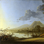 River Landscape with Horseman and Peasants, Aelbert Cuyp