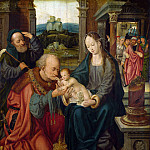 After Joos van Cleve – The Adoration of the Kings, Part 1 National Gallery UK