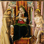 The Virgin and Child with Saints Francis and Sebastian, Carlo Crivelli
