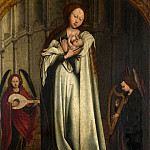 After Robert Campin – The Virgin and Child in an Apse with Two Angels, Part 1 National Gallery UK