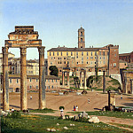 View of the Forum in Rome, Christoffer Wilhelm Eckersberg