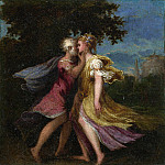 Andrea Schiavone – Jupiter seducing Callisto, Part 1 National Gallery UK